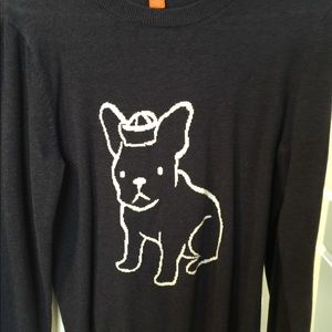 Sweater with French bulldog